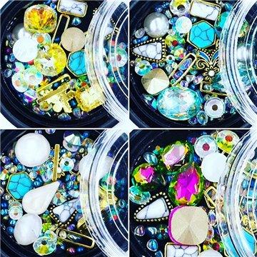 Nail Art Διακοσμητικές πέτρες & κρύσταλλα νυχιών