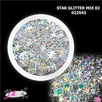 Star glitter mix για τα νύχια