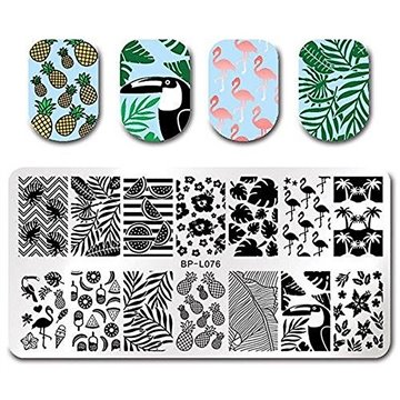 SUMMER STAMPS FOR NAIL ART